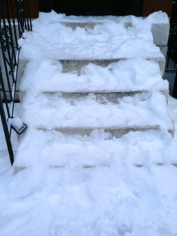 Who is going to man up and shovel our steps? Not I.